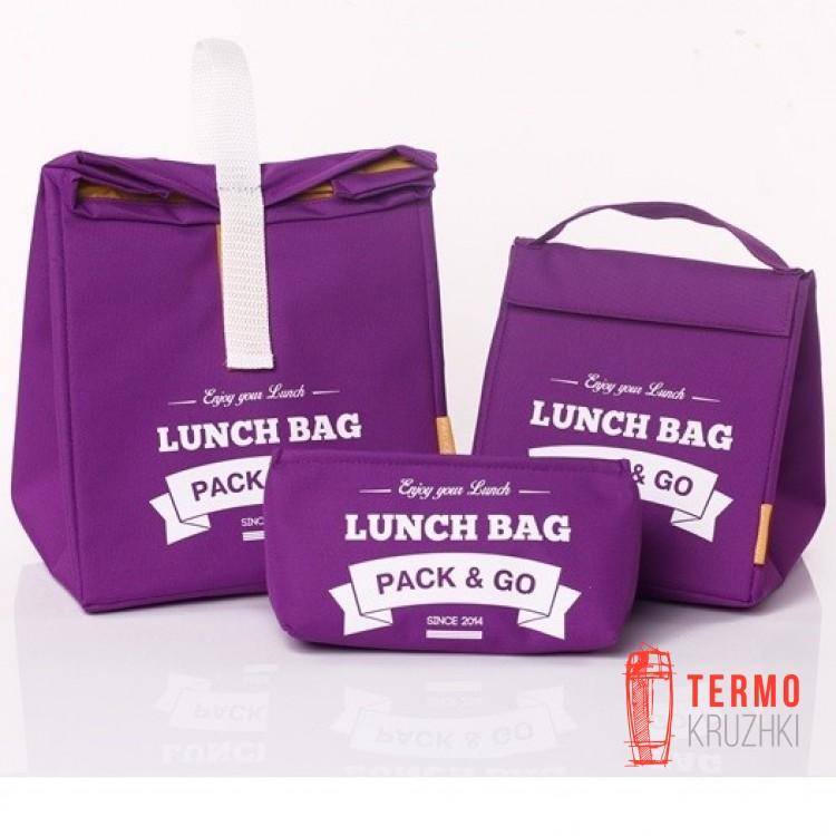 Комплект термосумок для ланча Lunch Bag Фиолетовый
