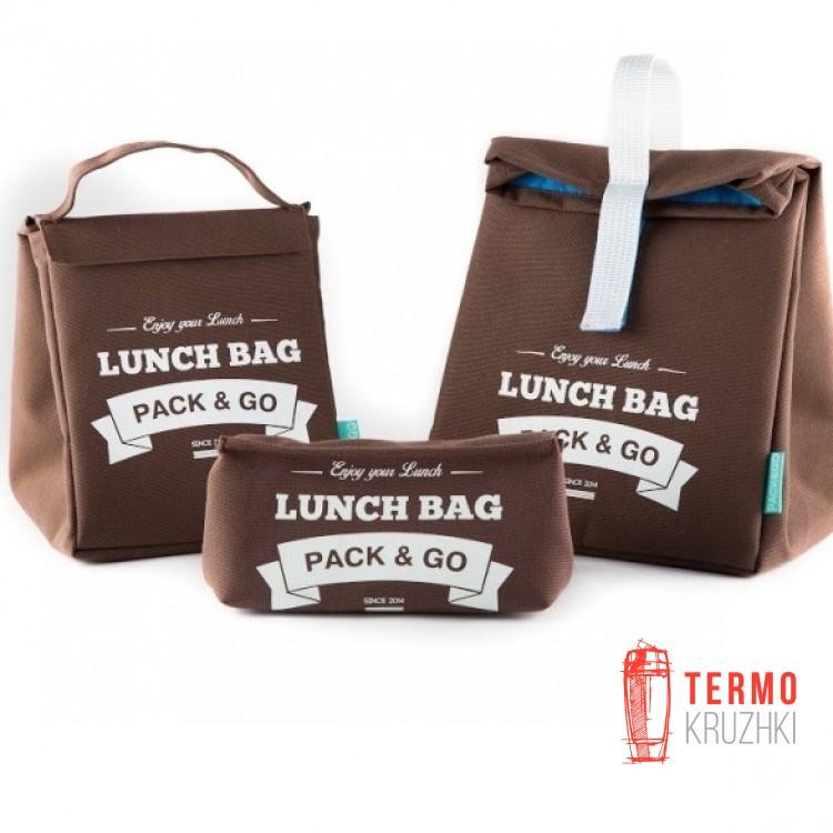 Комплект термосумок для ланча Lunch Bag  Коричневый