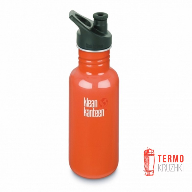 Фляга Klean Kanteen Classic Sport Cap Flame Orange 532 ml