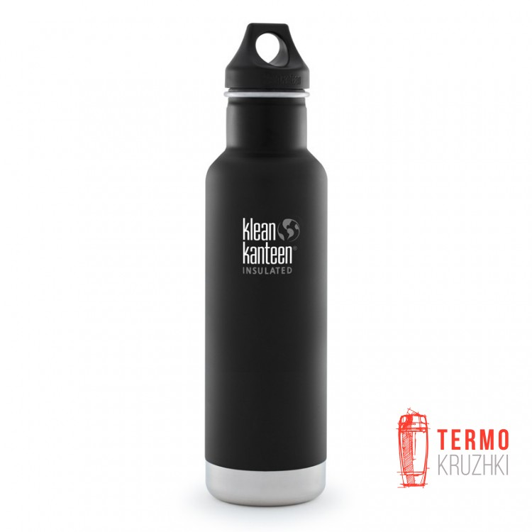 Термофляга Klean Kanteen Classic Vacuum Insulated Shale Black (matt) 592 ml