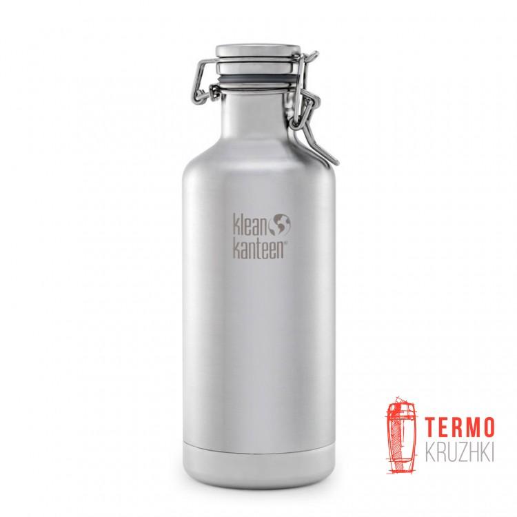 Термофляга для пива и газированных напитков Klean Kanteen Growler Brushed Stainless 946 ml