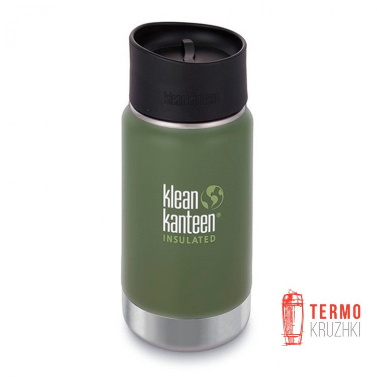 Термофляга Klean Kanteen Wide Vacuum Insulated Cafe Cap Vinyard Green (matt) 355 ml