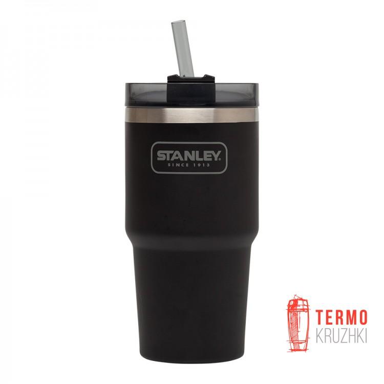 Термочашка с соломинкой Quencher (0.6 Л черная)