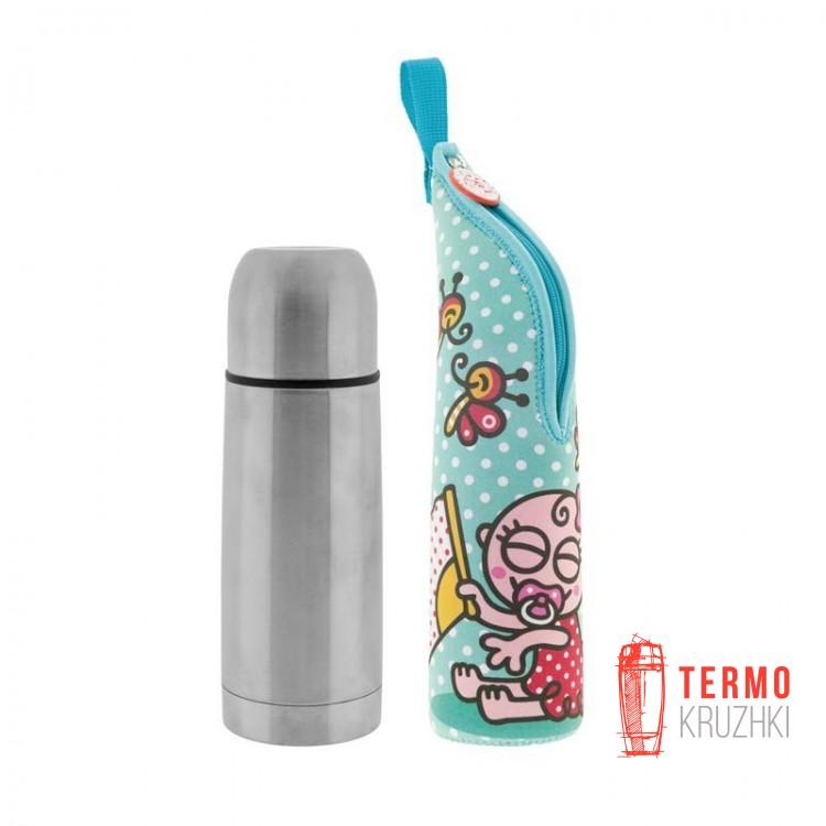Термос детский Laken с чехлом 0,5 L - BABY FLAMENCA