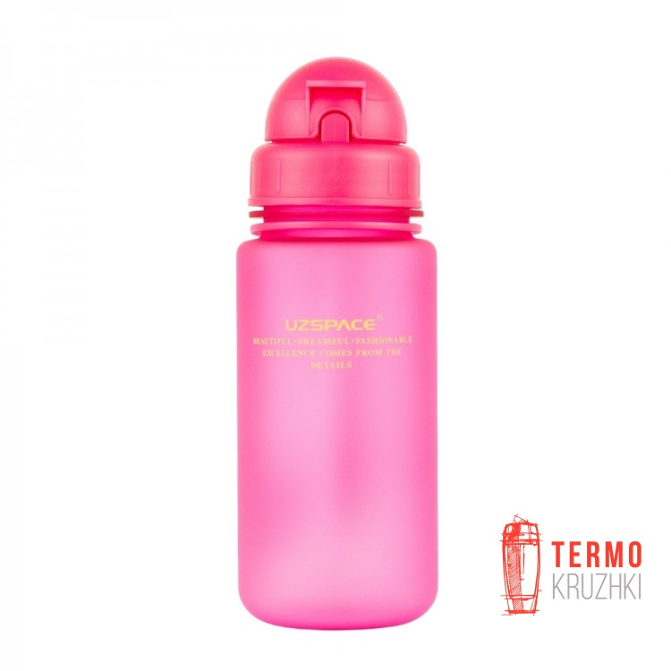 Детская бутылка Uzspace розовая 400 мл