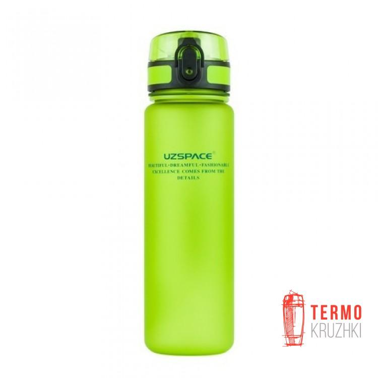 Спортивная бутылка для воды Uzspace зеленая 500 мл