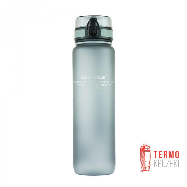 Спортивная бутылка для воды Uzspace 1000 мл серая