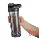 Набор из двух шейкеров Contigo Insulated Shaker Bottles 710 мл, черный, голубой