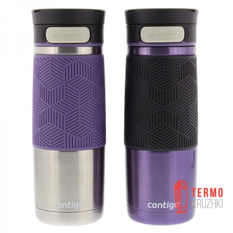 Набор из двух термокружек Contigo Metra Transit Autoseal Steel 470 ml, фиолетовые