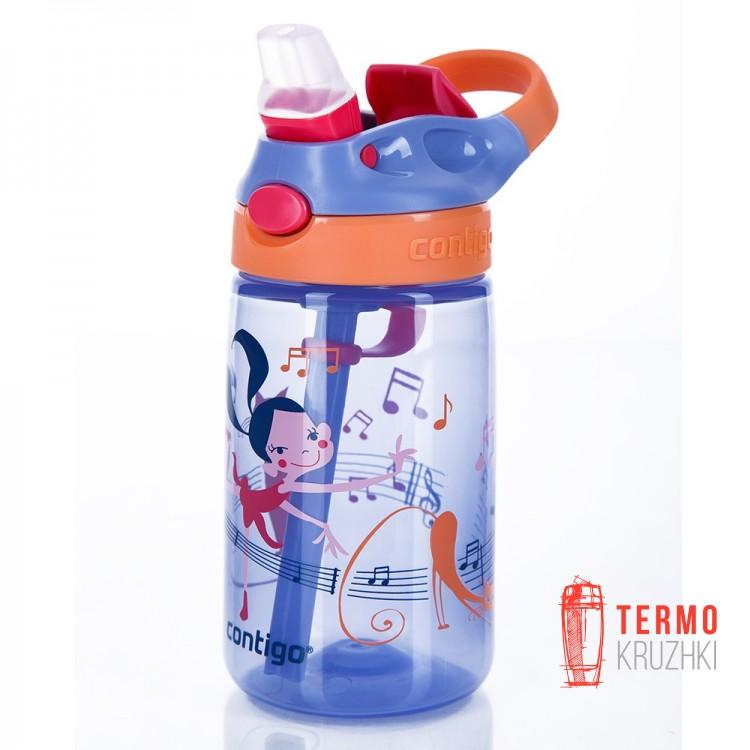 Детская бутылка для воды Contigo Gizmo Flip 420ml Фиолетовая