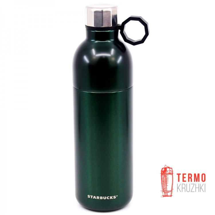 Термобутылка с ручкой Starbucks Forest Green Stainless Steel Water Bottle, 591 мл