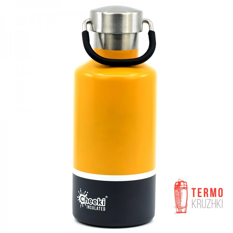 Детский термос Cheeki Classic Insulated, 400 ml, Sunshine Grey