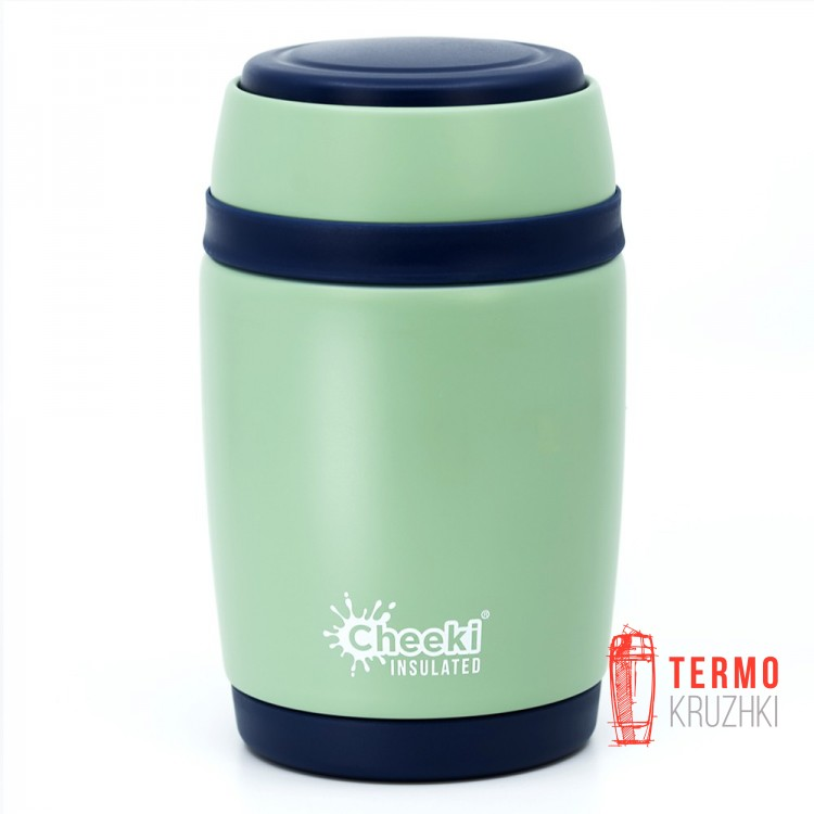 Термос для еды Cheeki Food Jar, 480 ml, Pistachio