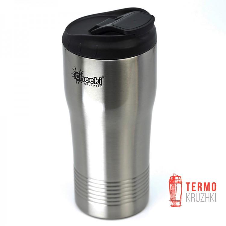 Термокружка Cheeki Coffee Cup, 450 ml, Silver