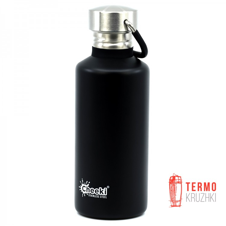 Детская бутылка для воды Cheeki Classic Single Wall 500 ml Matte Black