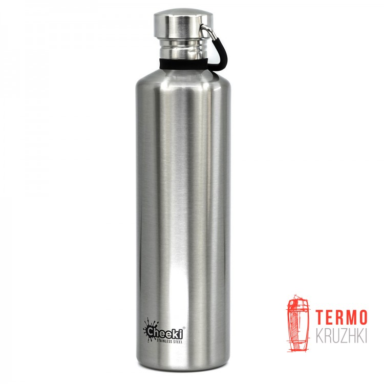 Бутылка для воды Cheeki Classic Single Wall 1 litre Silver