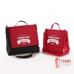 Ланчбег Lunch Bag Pack & Go (L+ увеличенный) красно-черный