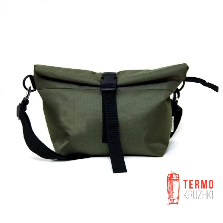 Lunch bag оливковый XL с длинным ремнем