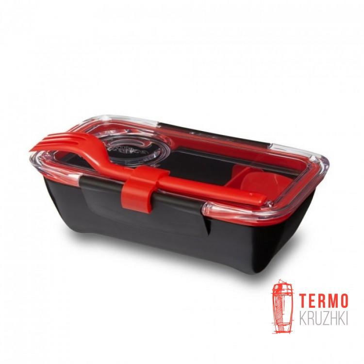 Ланч бокс прямоугольный Bento Box Black+Blum Черный / Красный