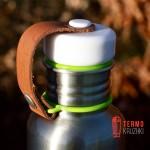 Фляга стальная Black+Blum Сталь / Зеленая