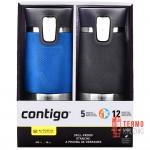 Подарочный набор для него и для нее из двух термокружек Contigo Montana Autoseal, Stock Blue & Gray 0.47 ml
