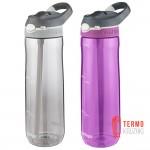 Подарочный набор для него и нее из двух бутылок для воды Contigo Autospout Ashland 709 ml, Smoke & Purple