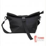 Lunch bag черный XL с длинным ремнем