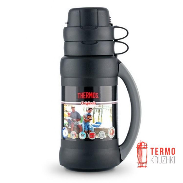 Стеклянный термос Thermos 1,8 л, 34-180 Premier, черный