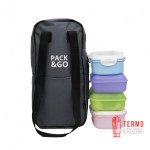 Ланч бэг Pack & Go Battle bag серый