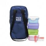 Ланч бэг Pack & Go Battle bag синий