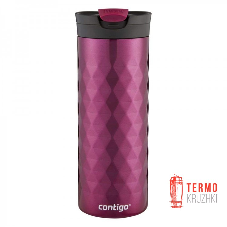 Термокружка Contigo SnapSeal Kenton Stainless Steel Travel Mug, 600 мл, Very Berry