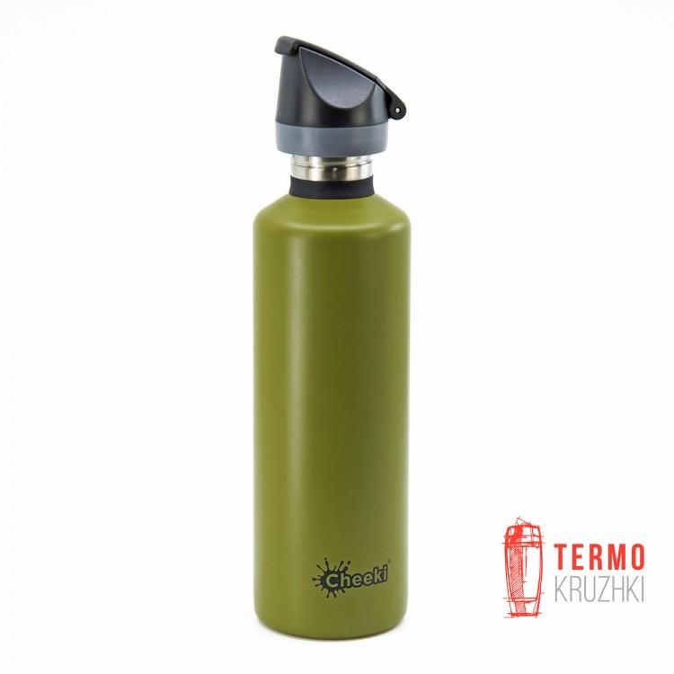 Спортивная бутылка для воды Cheeki Single Wall Active 750 ml Khaki
