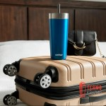 Термостакан из нержавеющей стали герметичный с трубочкой Contigo Luxe California 532 мл Licorice