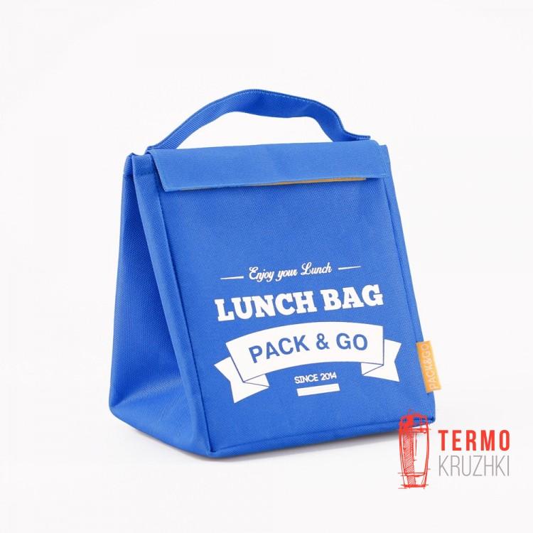Термосумка для ланча Ланчбег Pack & Go размер M Небесно-голубой