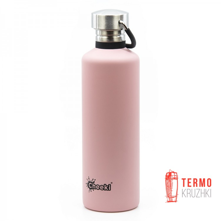 Спортивная бутылка для воды Cheeki Single Wall 750 ml Pink
