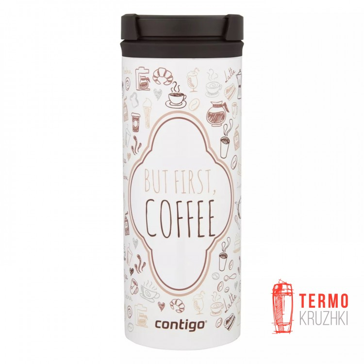 Термокружка Contigo Twistseal Eclipse 473 мл White But First Coffee