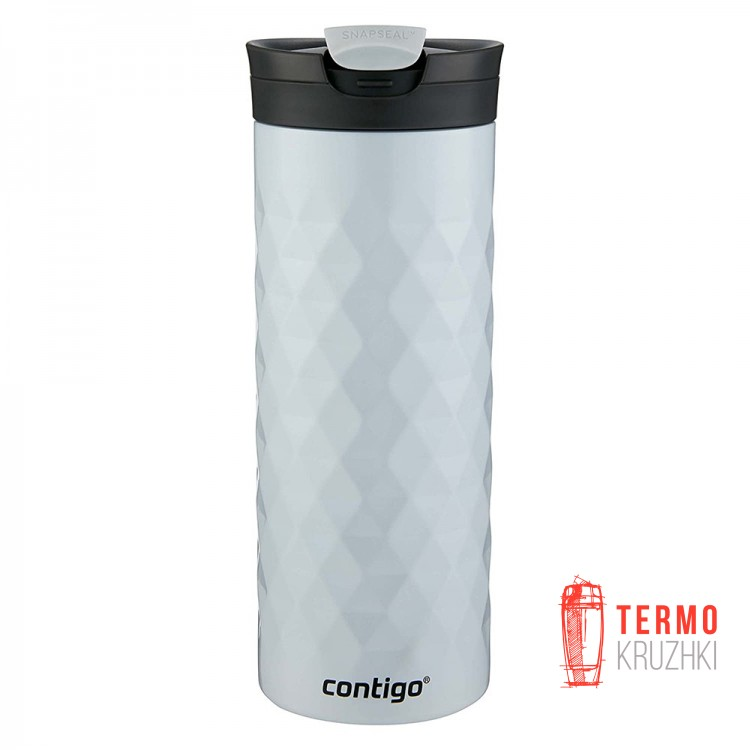Термокружка Contigo SnapSeal Kenton Stainless Steel Travel Mug, 600 мл, Polar White