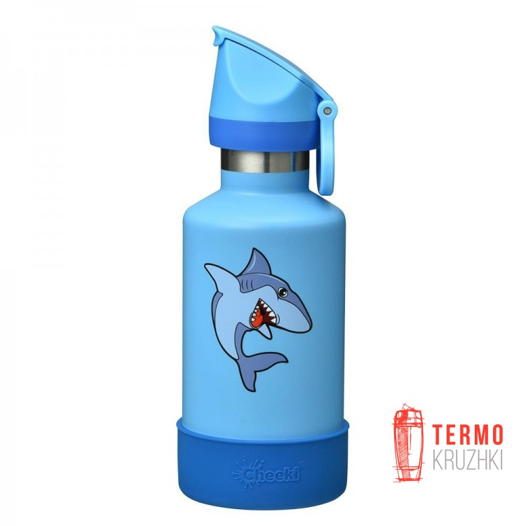 Термобутылка детская Cheeki Insulated Kids Shark 400 ml