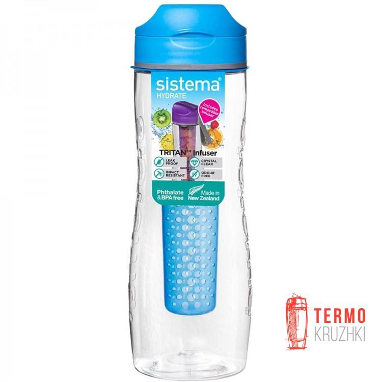 Бутылка для воды Sistema Hydrate с диффузором 800 мл Blue