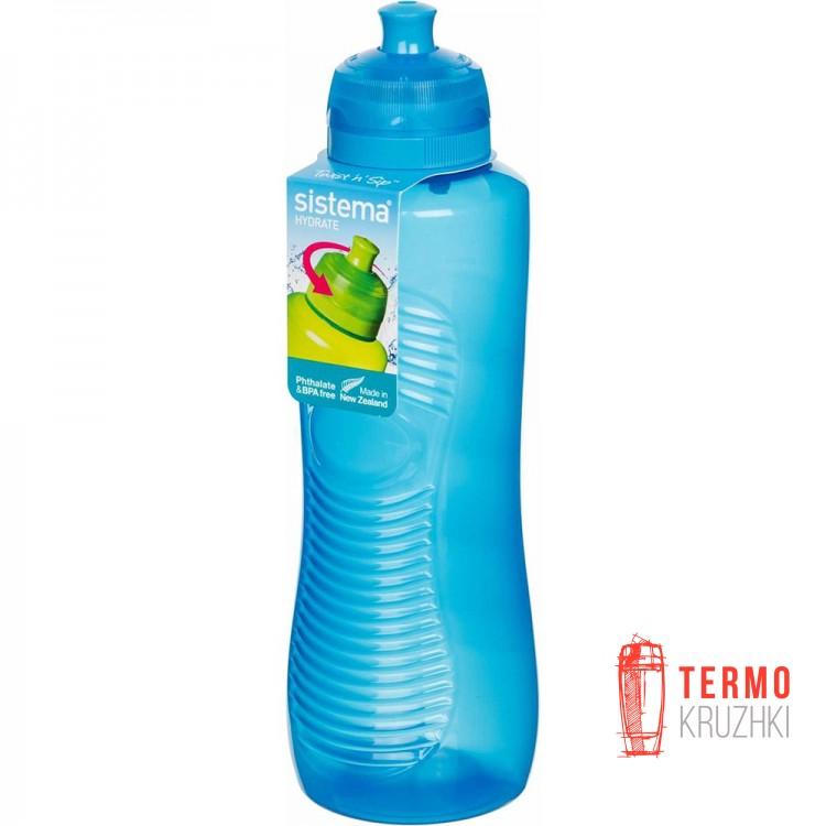Бутылка для воды с поильником Sistema Hydrate 0.8 л blue