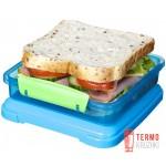 Ланч-бокс для сэндвичей Sistema Lunch 0.45 л зеленый