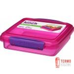 Ланч-бокс для сэндвичей Sistema Lunch 0.45 л розовый