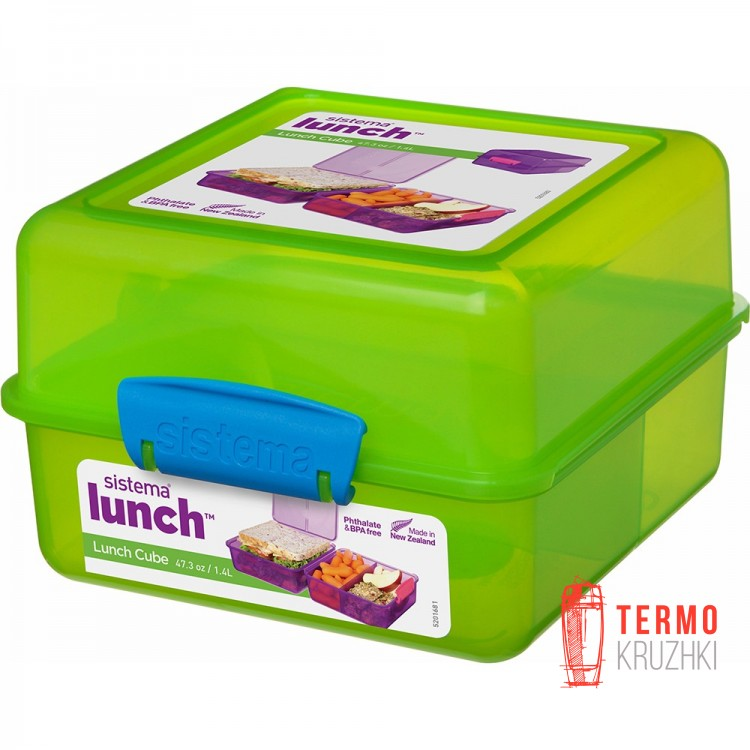 Ланч бокс Sistema Lunch Green 1.4 л
