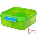 Ланч бокс для сэндвичей Sistema Lunch 1.25 л зеленый