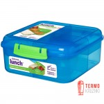Ланч бокс для сэндвичей Sistema Lunch 1.25 л голубой