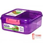 Ланч бокс для сэндвичей Sistema Lunch 1.25 л Фиолетовый