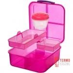 Ланч бокс для сэндвичей Sistema Lunch 1.25 л Розовый