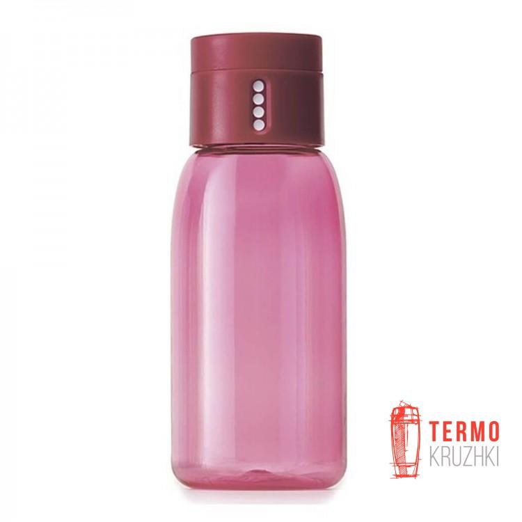 Бутылка для воды с индикатором Joseph Joseph 400 ml розовая