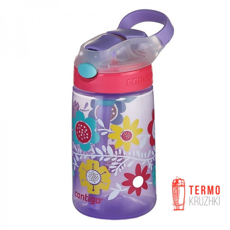 Детская бутылка для воды Contigo Gizmo Flip 420ml Сиреневая