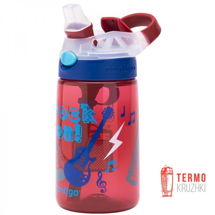 Детская бутылка для воды Contigo Gizmo Flip 420ml Темно-красная